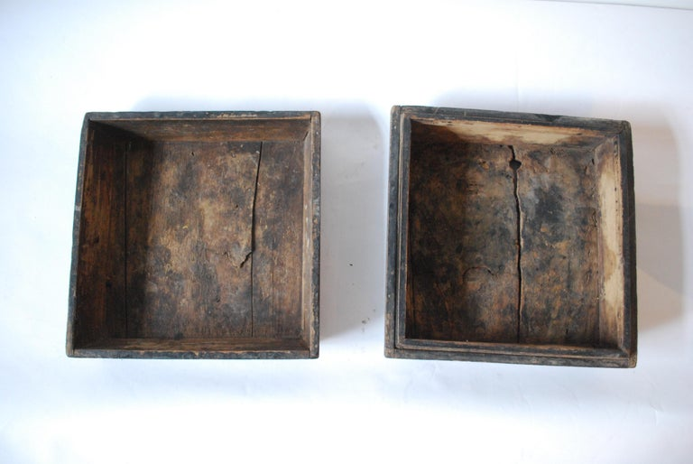 Early 20th Century Asian Covered Food Boxes Set of Six For Sale 2