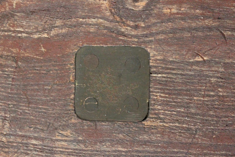 Early 20th Century Staten Island Ferry Auxiliary Hickory and Bronze Bench For Sale 6