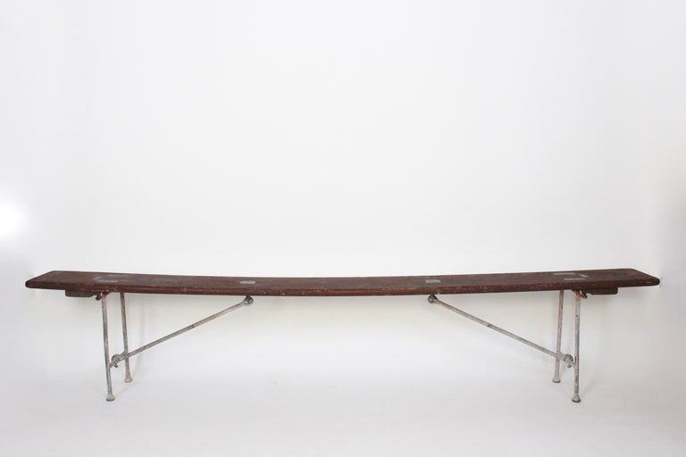 Early 20th Century Staten Island Ferry Auxiliary Hickory and Bronze Bench For Sale 13