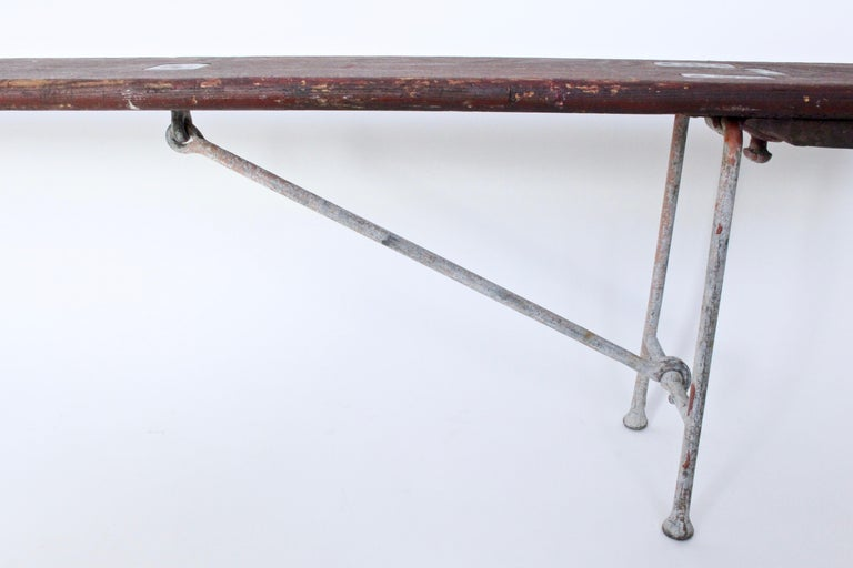 Early 20th Century Staten Island Ferry Auxiliary Hickory and Bronze Bench For Sale 1