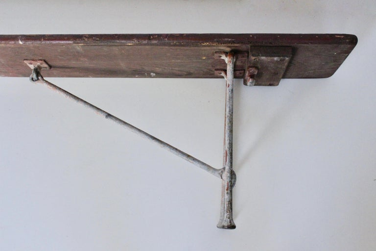 Early 20th Century Staten Island Ferry Auxiliary Hickory and Bronze Bench For Sale 3