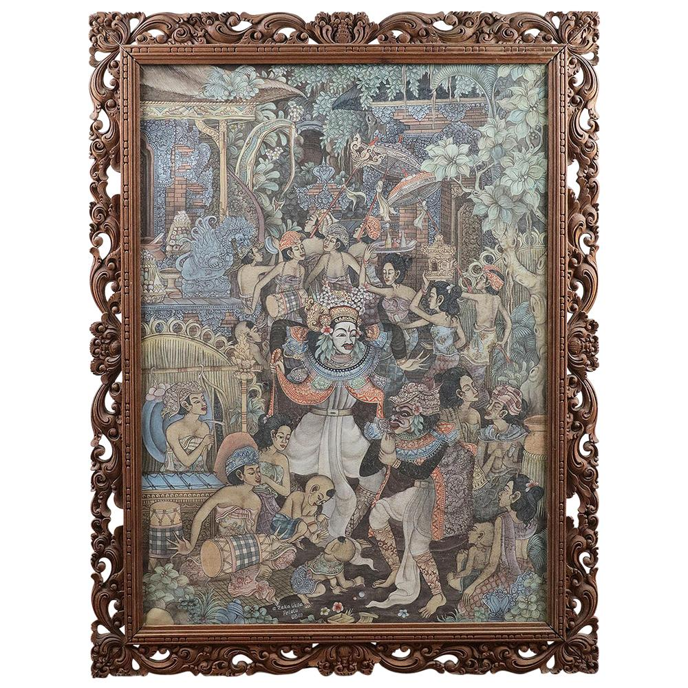 Early 20th Century Balinese Painting