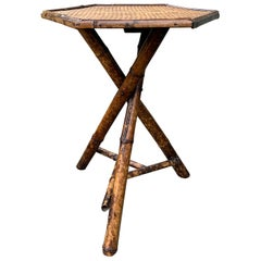 Early 20th Century Bamboo Hexagonal Side or Drinks Table