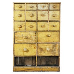 Early 20th Century Bank of English Shop Drawers
