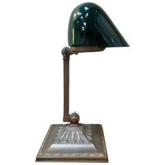 Early 20th Century Bankers Lamp by Emeralite