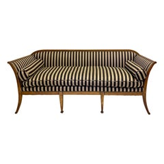 Early 20th Century Biedermeier Style Carved Fruitwood Italian Sofa