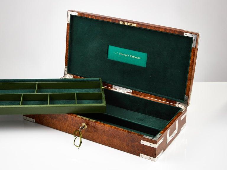 English Early 20th Century Bird's-Eye Maple Collectors Box, circa 1920 For Sale