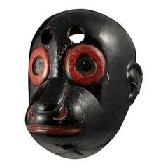 Early 20th Century Black Monkey Mask, Guatemala