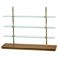 Early 20th Century Brass and Glass Retail Shop Display Shelving