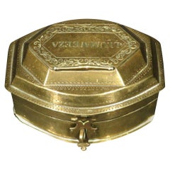 An Early 20th Century Brass Betel Box or Pandan, Probably Brunei Circa 1900