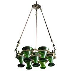 Early 20th Century Brass Shabbat Hanging Lamp, India