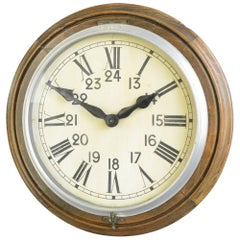 Early 20th Century Brillie School Clock, Circa 1910