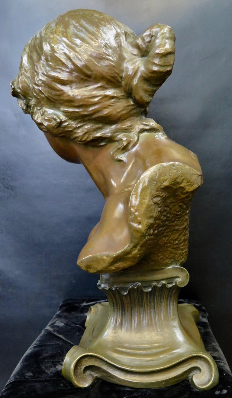 Early 20th Century Bronze by J. Rispal For Sale 1