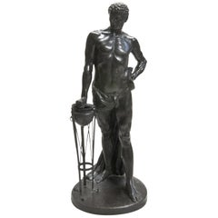 Early 20th Century Bronze Figure of a Man Mucius Scaevola by Wilhelm Kumm