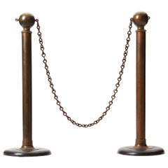 Early 20th Century Bronze Stanchions