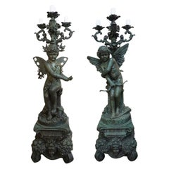 Early 20th Century Bronze Statues from France