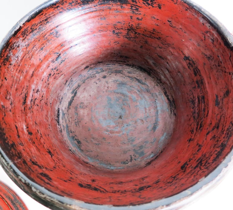 Early 20th Century Burmese Lacquer Offering Vessel, Hsun Ok For Sale 5