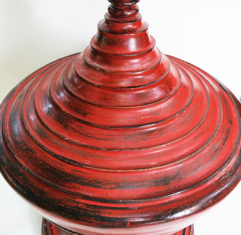 Early 20th Century Burmese Lacquer Offering Vessel, Hsun Ok For Sale 1