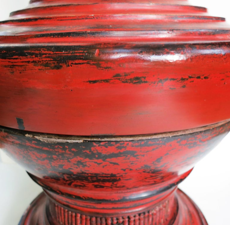 Early 20th Century Burmese Lacquer Offering Vessel, Hsun Ok For Sale 2