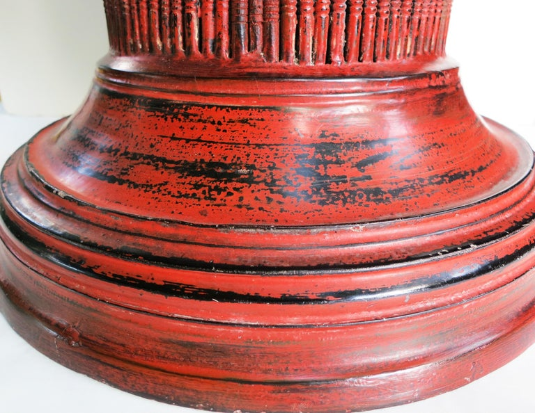 Early 20th Century Burmese Lacquer Offering Vessel, Hsun Ok For Sale 3