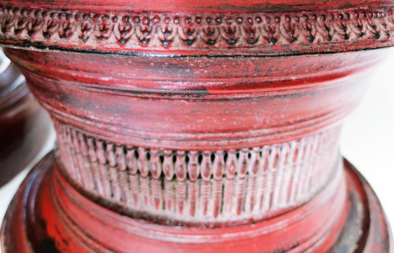 Early 20th Century Burmese Lacquer Offering Vessel, Hsun Ok For Sale 4