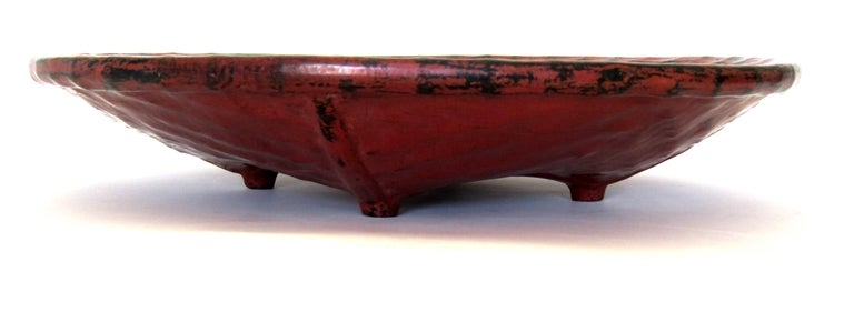 """Hand-Crafted Early 20th Century Burmese Lacquered Tray, """"Pagan Bya"""" For Sale"""
