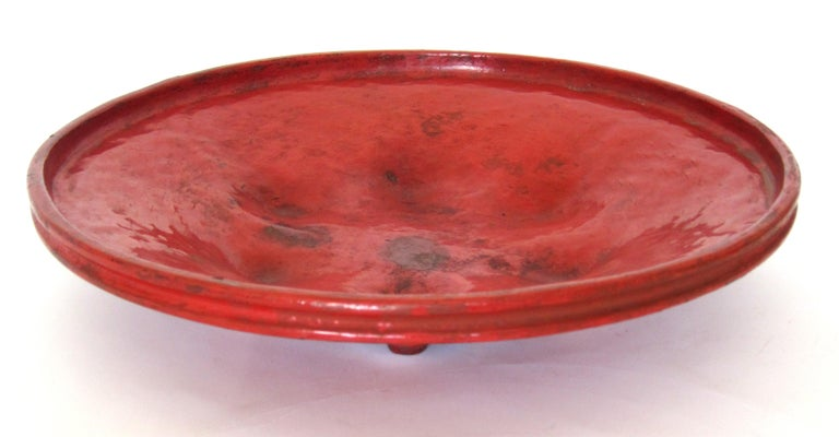 "Hand-Crafted Early 20th Century Burmese Lacquered Tray, ""Pagan Bya"" For Sale"