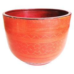 """Early 20th Century Burmese Lacquered Water Bowl, """"Yay Khwet Gyi"""""""