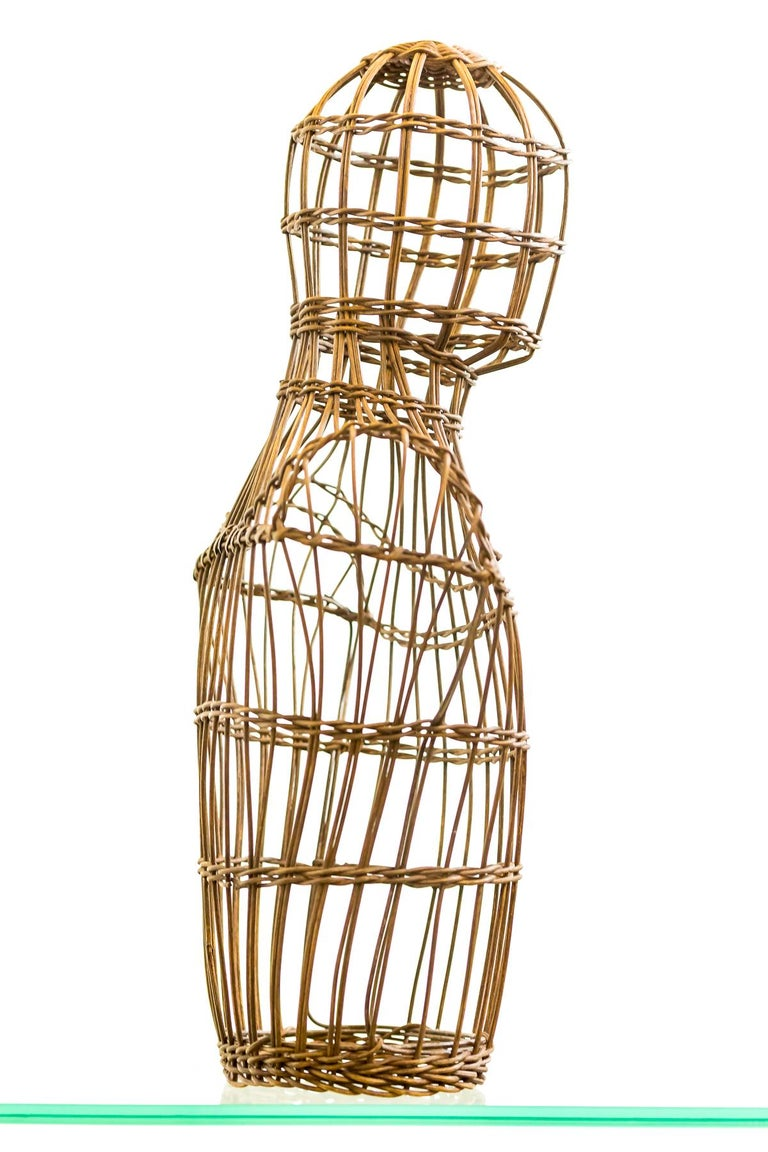 Mid-Century Modern Early 20th Century Cane Shop Display Mannequin Bust For Sale