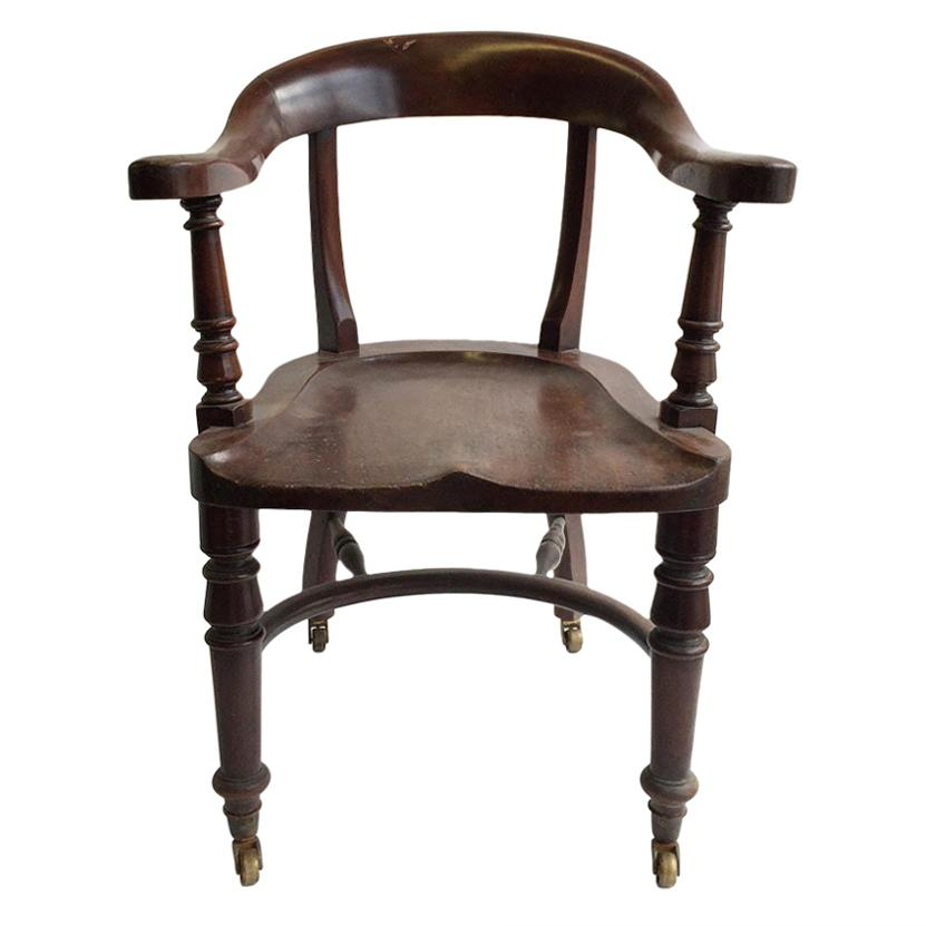 Early 20th Century Captain's Chairs, Set of 2