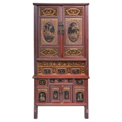 Early 20th Century Carved Cabinet from Fujian, China