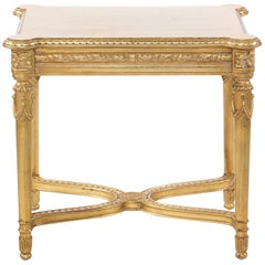 Early 20th Century Carved Giltwood End Table