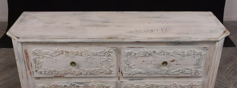 Italian Painted Chest of Drawers For Sale 3