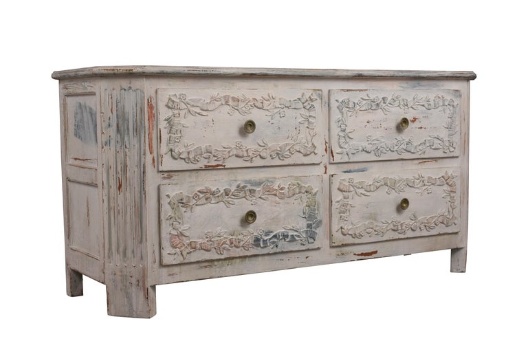 Rococo Italian Painted Chest of Drawers For Sale