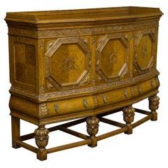 Early 20th Century Carved Oak Side Cupboard