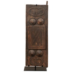 Early 20th Century Carved Wood Tribal Panel from Timor Island, Indonesia
