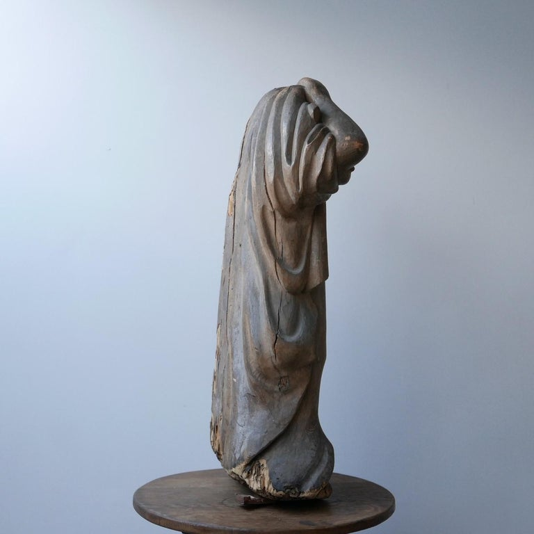 Early 20th Century Carved Wooden Ghost For Sale 7
