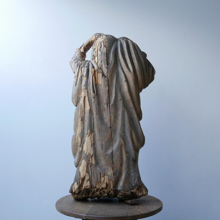 Early 20th Century Carved Wooden Ghost For Sale 8