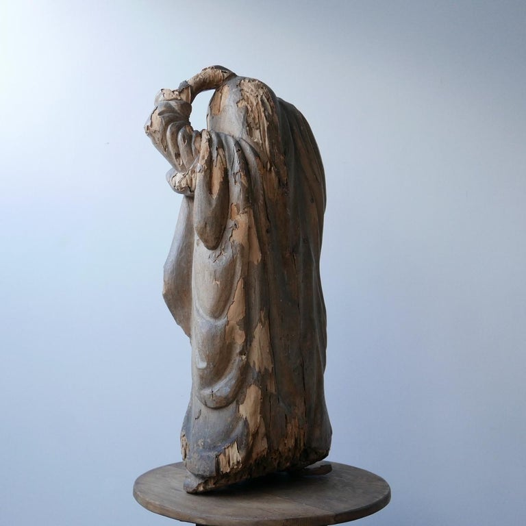 Early 20th Century Carved Wooden Ghost For Sale 9
