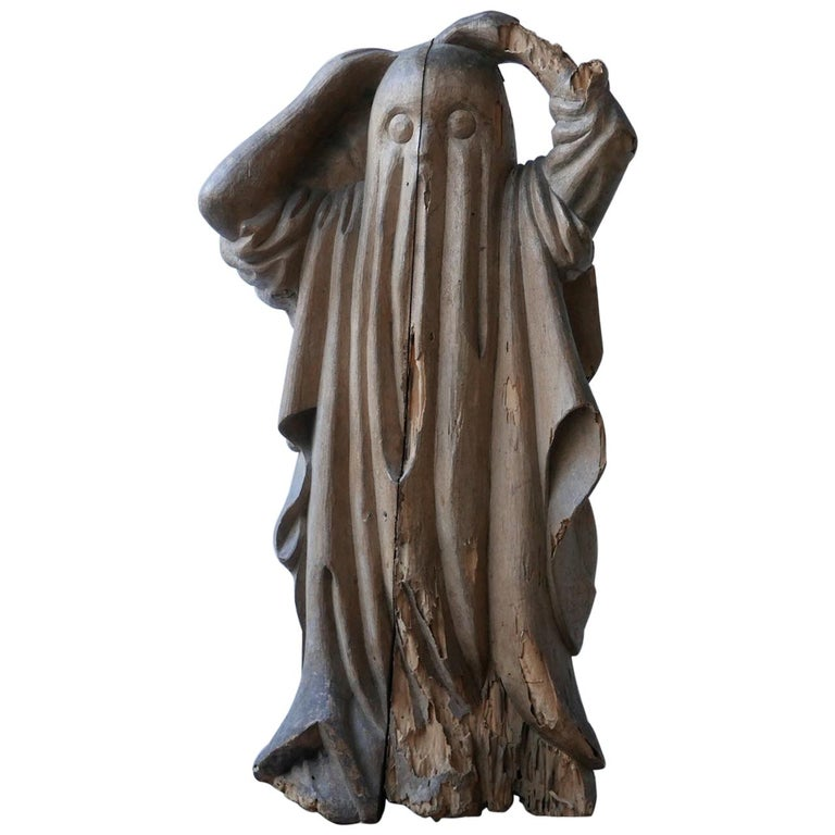 Early 20th Century Carved Wooden Ghost For Sale