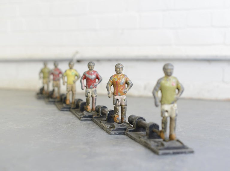 Early 20th Century Cast Iron Amusement Arcade Footballers For Sale 6