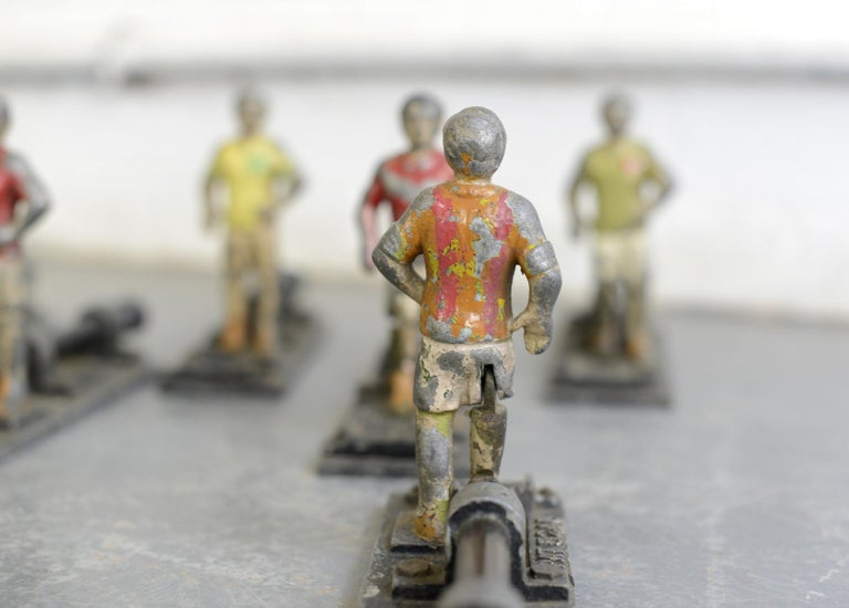 Early 20th Century Cast Iron Amusement Arcade Footballers For Sale 4