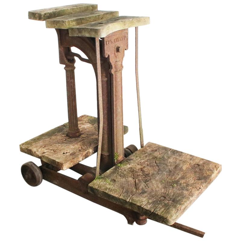 Early 20th Century Cast Iron Sack Weighing Scales Produced by W&T Avery Ltd