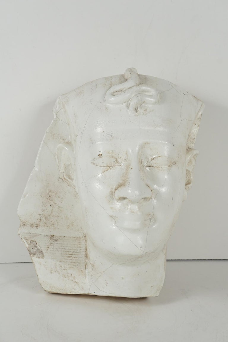 This life-size cast plaster head of a Pharoh was made in the first quarter of the 20th century. While the discovery by Howard Carter of the undisturbed tomb of King Tut in 1922 certainly led to Egyptian fever, Egyptology and an interest in the Nile