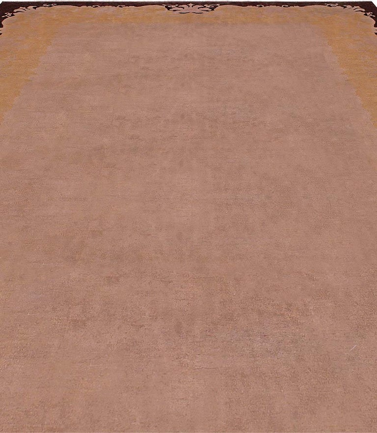 Early 20th century Chinese Art Deco handmade wool rug Size: 11'0