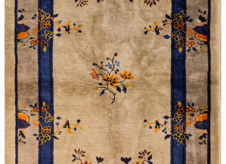 Vegetable Dyed Early 20th Century Chinese Art Deco Rug For Sale