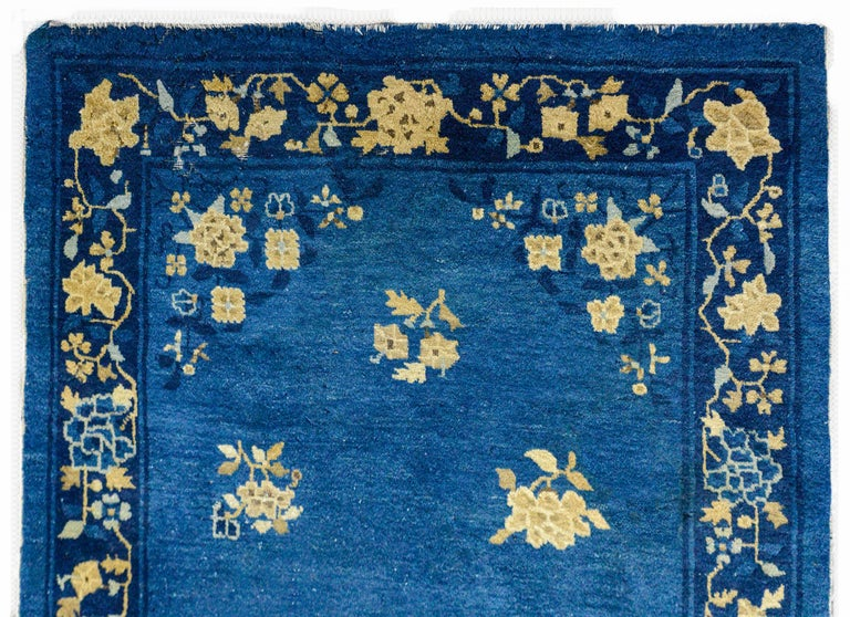 Hand-Knotted Early 20th Century Chinese Art Deco Rug For Sale