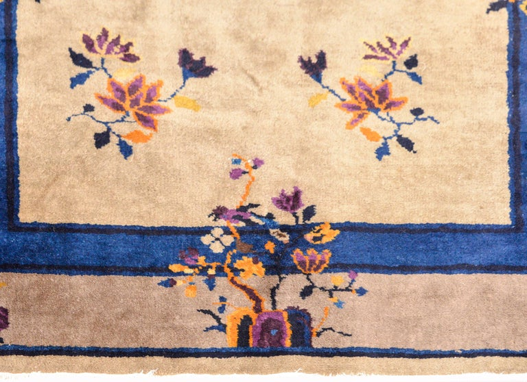 Wool Early 20th Century Chinese Art Deco Rug For Sale
