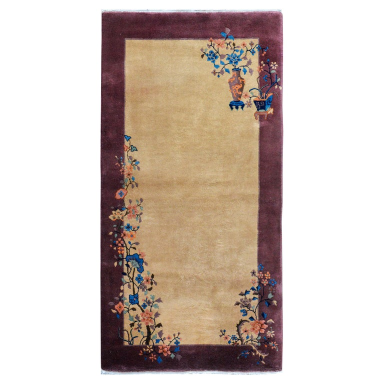 Early 20th Century Chinese Art Deco Rug For Sale
