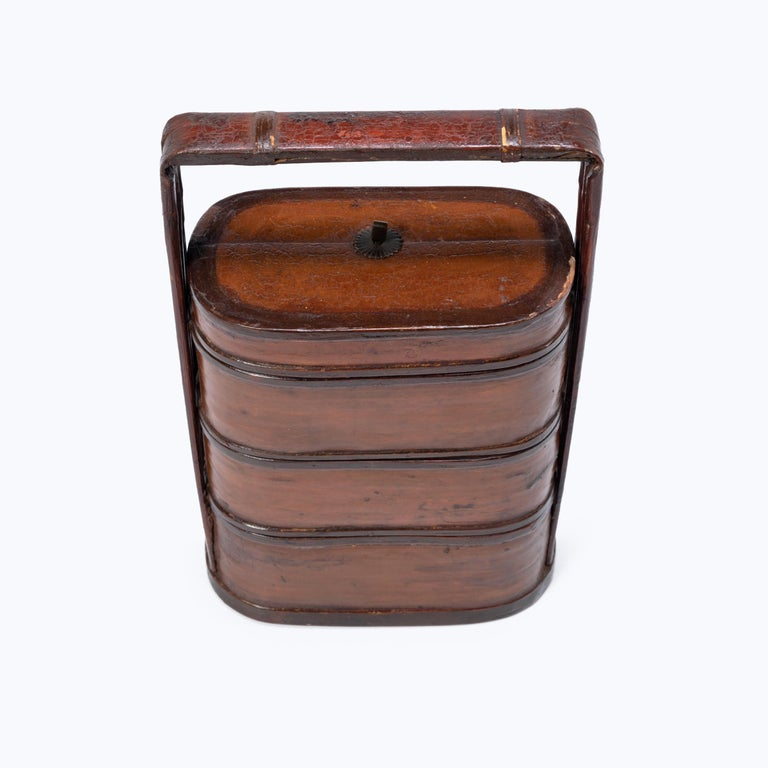 Early 20th Century Chinese Bamboo Stacking Box For Sale 1